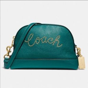 Coach leather dome script crossbody